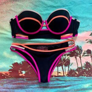 Victoria's Secret neon color block bikini 34C & S